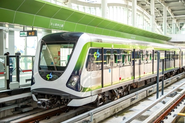 Taichung MRT Green Line resumes trial run on Thursday. (Taichung City Government photo)