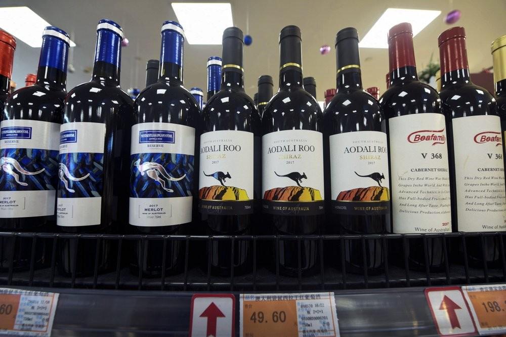 Australian wines at Chinese supermarketin November 2020.