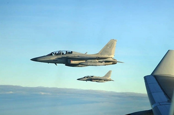 File photo of Philippine Air Force FA-50 Golden Eagles