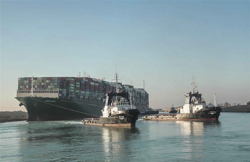 Taiwan's Evergreen ship fully free, Suez Canal reopens