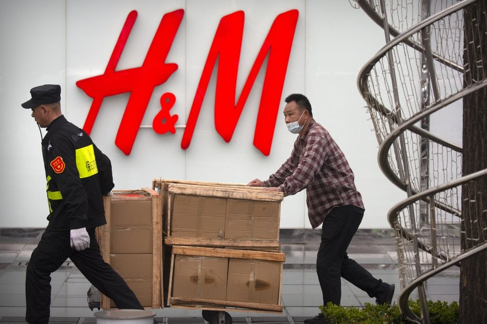 An H&M store at a shopping mall in Beijing
