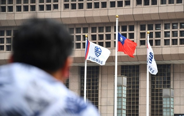 Taiwan flag flown at half-staff at Taipei Railways Station on April 3.