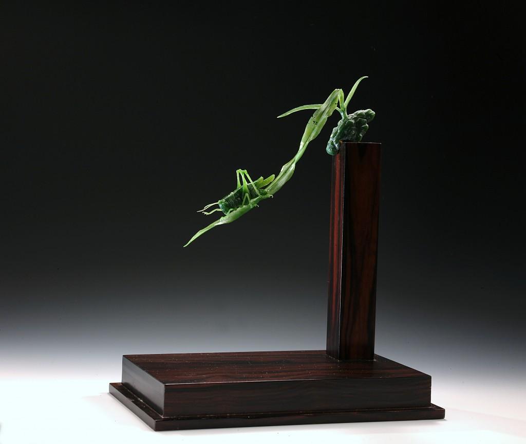 美翻!一塊玉石幻化自然萬物 台灣雕刻大師雙人組美國展出