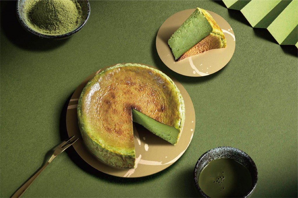 路易莎「金天閣濃い抹茶巴斯克乳酪」新上市