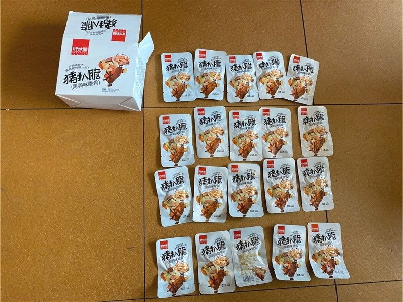 Chinese pork snacks confiscated in Taiwan (CNA photo)