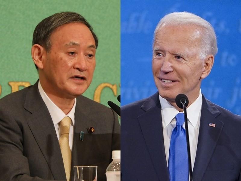 日本首相菅義偉將於4月16日在華盛頓與美國總統拜登舉行會談。(圖/中央社)