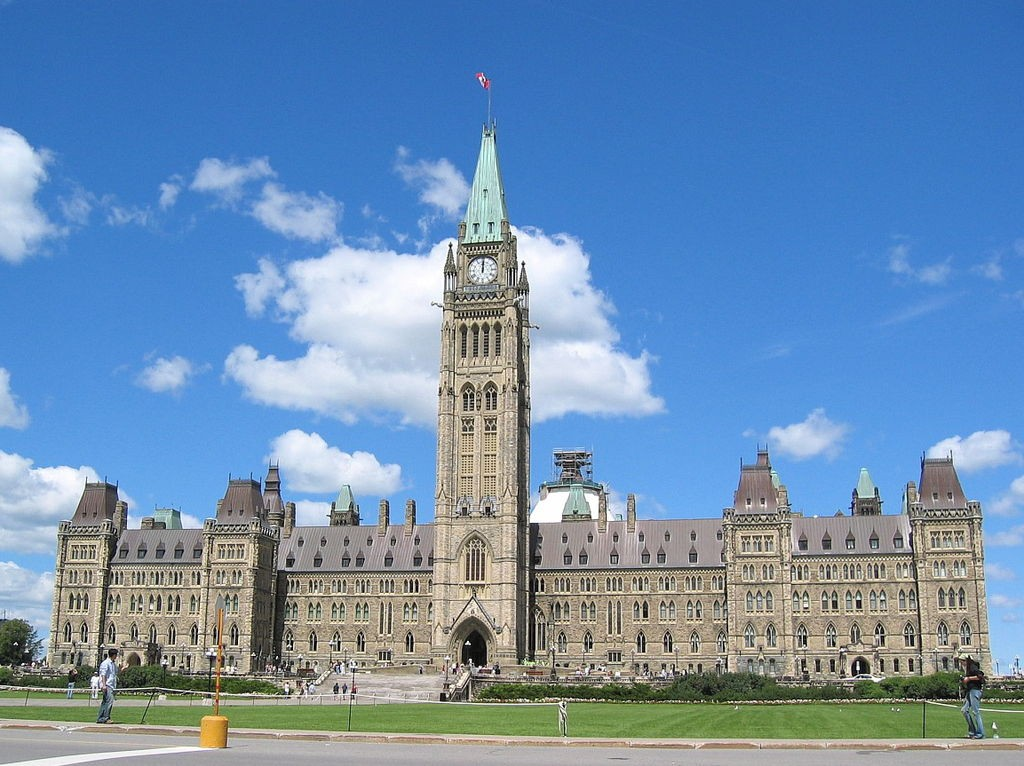 The Centre Block on Parliament Hill.