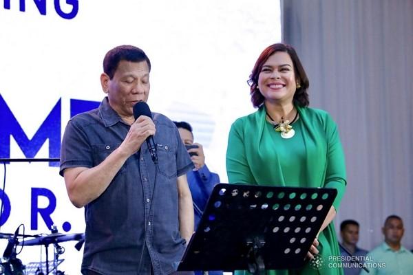 Philippine leader Rodrigo Duterte and daughterSara Duterte-Carpio (Wikimedia Commons photo)