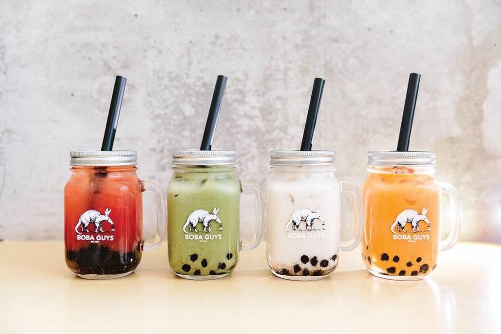 Four flavors of boba tea. (Facebook, Boba Guys photo)