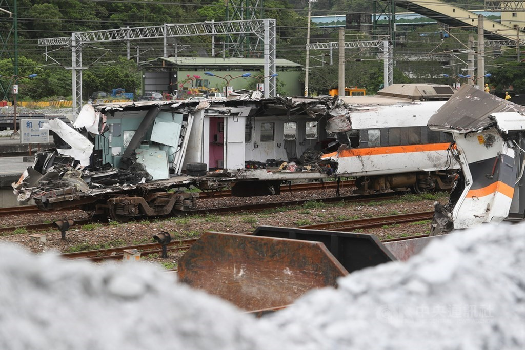 Seven were charged with negligent homicide Friday over the 49 deaths in the April 2 Hualien train derailment