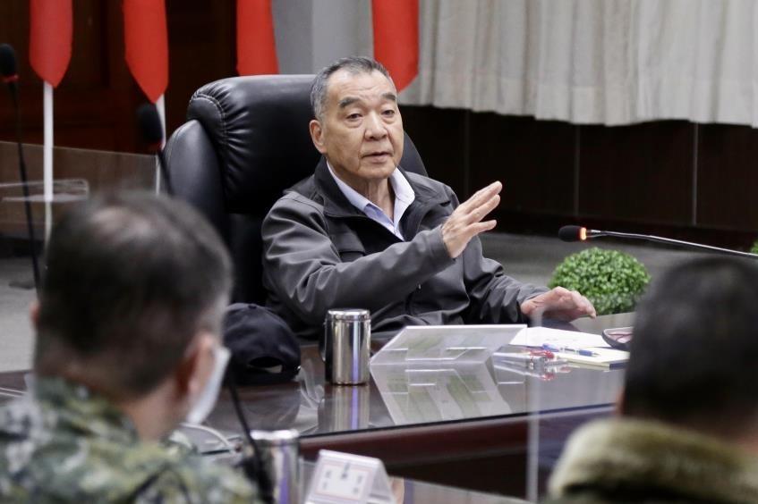Taiwan Defense Minister Chiu Kuo-cheng. (Military News Agency photo)