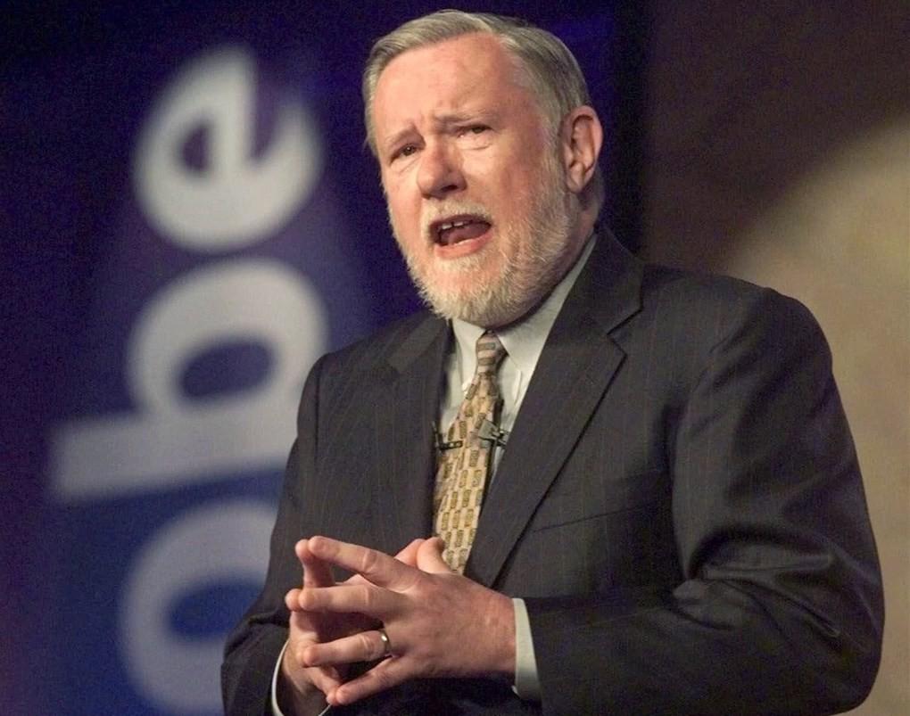 Adobe 共同創辦人、PDF技術研發人蓋希克16日辭世,享壽81歲。(美聯社)