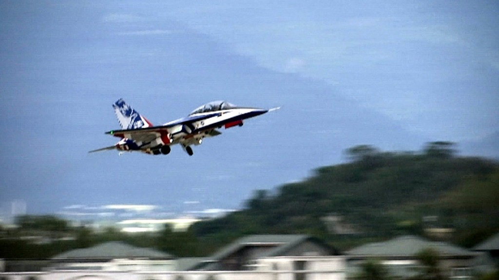 Advanced jet trainer at Zhihang Air Force Base in Taitung County.
