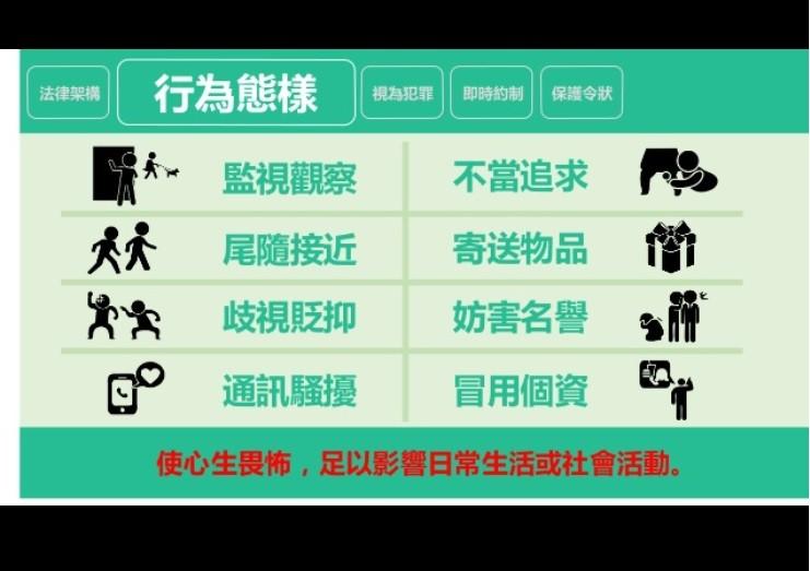 【盼悲劇不再發生】台灣行政院通過「跟蹤騷擾法」草案•8種行為樣態納規範 違者最高處5年以下有期徒刑!