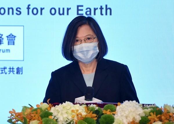 President Tsai Ing-wen delivers Earth Day speech.