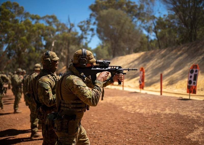 澳洲前特種部隊指揮官於去年機密簡報中表示,與中國衝突具高度可能性。(圖/澳洲陸軍臉書)