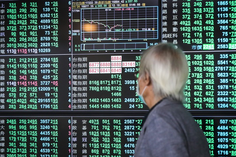 Taiwan's stock market index fell for two consecutive days