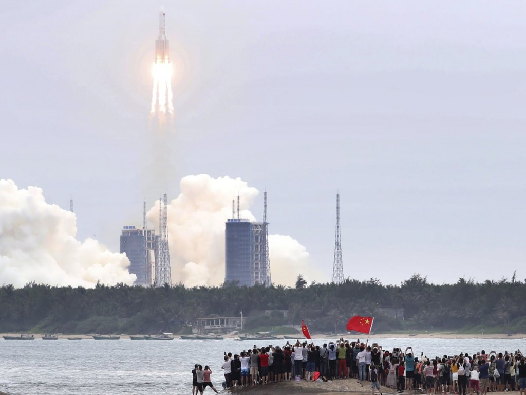 The launch of the Long March 5B