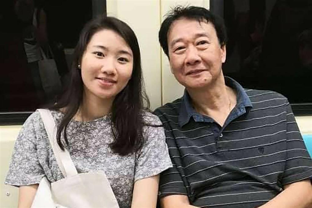 Elaine Tseng (left) with her fatherTseng Kin-fui (Tseng Kin-fui photo)