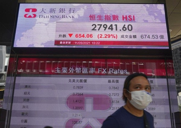 Asia shares fall on worries over inflation, Fed outlook