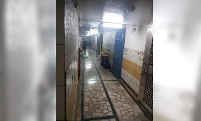 Hallway outside Li's apartment. (Taipei City Police Department photo)