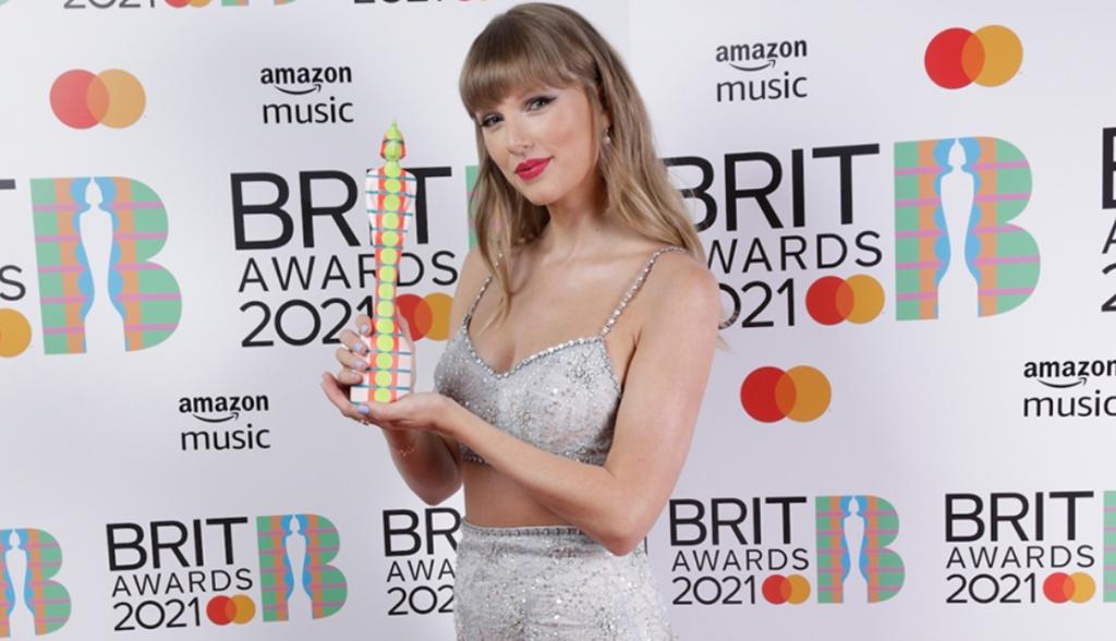全英音樂獎「全球偶像大獎」頒給流行天后泰勒絲(圖/The BRIT Awards 官網)
