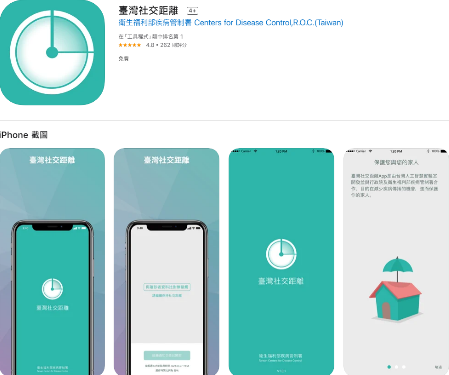 CECC launches a lucky draw to encouragedownloads of Taiwan Social Distancing app. (APP Store screenshot)