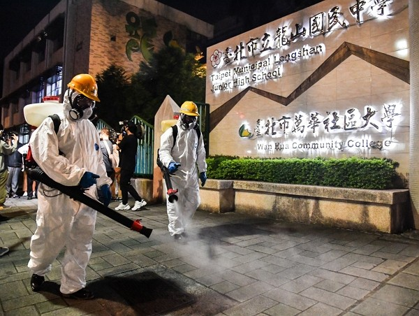 Sanitization is beingimplemented across Taiwan due to a surge in local COVID-19 infections.