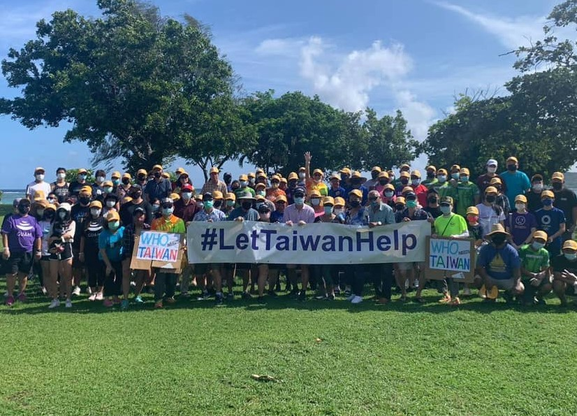 Guam TECOholds beach clean-up event to advocate Taiwan's WHO participation. (Guam TECO photo)