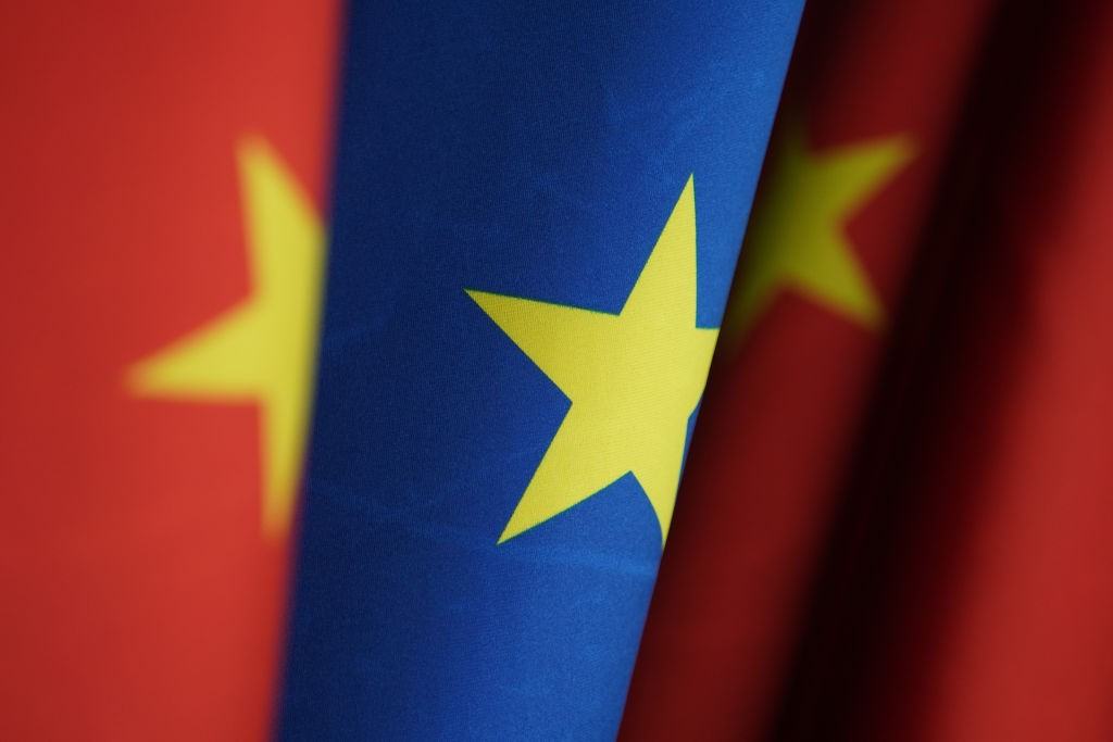 EU, China flags (Getty Images)