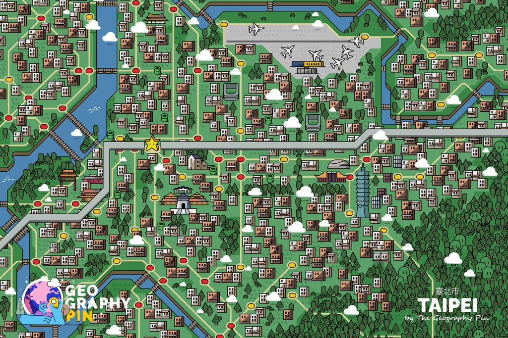 Photo of the Day: Map of Taipei inspired by Mario