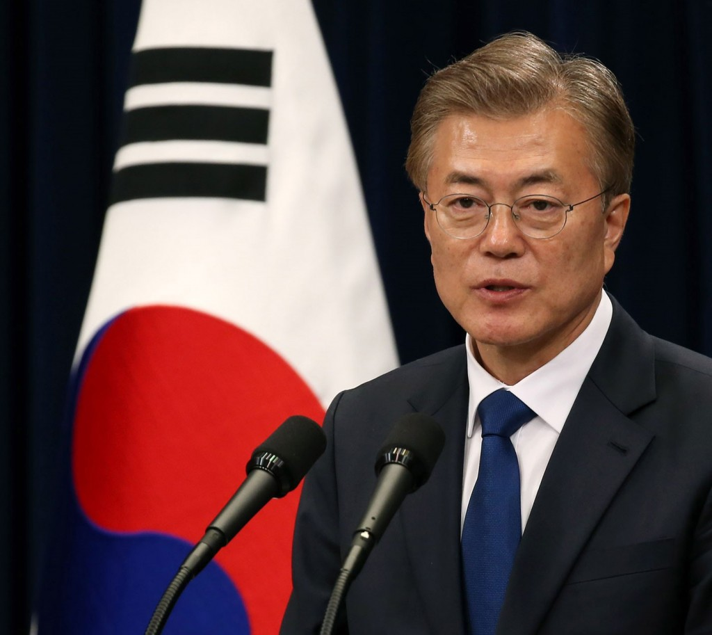 South Korean President Moon Jae-in (Britannica photo)
