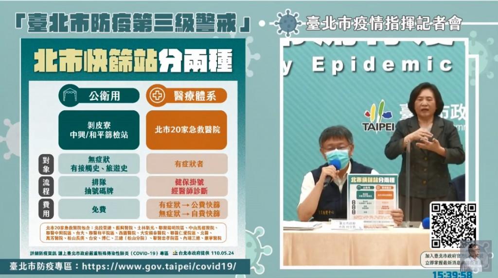全台灣三級警戒5/28解除?! 柯文哲: 科學上來說「不樂觀」•28日恐是第3波高峰