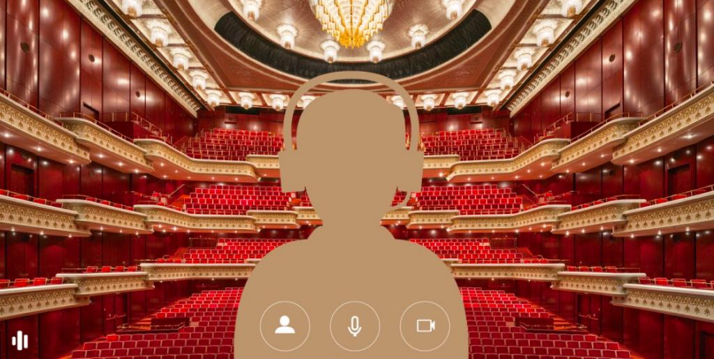 兩廳院精選藝文廣場、音樂廳大廳水晶燈、國家戲劇院舞台以及管風琴等多張場景,供觀眾下載使用(圖/兩廳院)