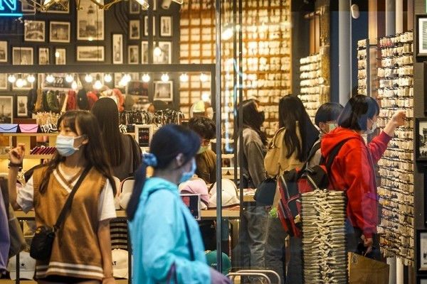 Taiwan's economy flashes red light in April.