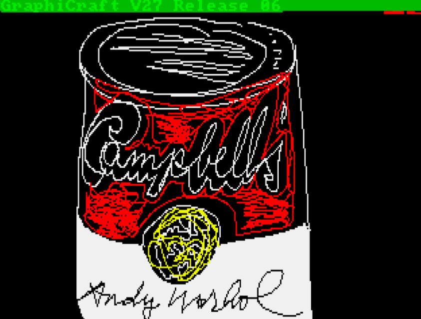 Christie's digital auction featured Warhol NFTs. (Christie's photo)
