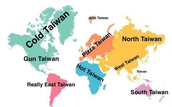 Global map of Taiwan. (Twitter image)