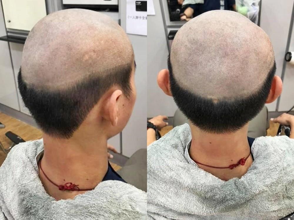 Barber's previous customer with same haircut. (Facebook, 高雄五甲大小事 photos)