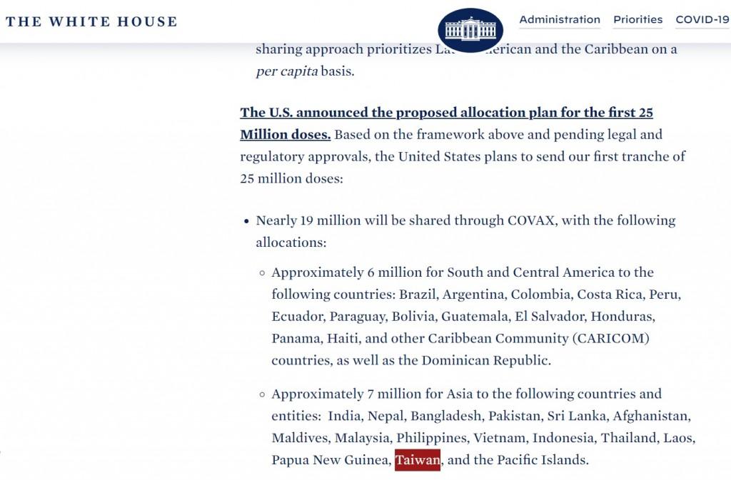 【快訊】包括台灣! 美國總統拜登宣布 向亞洲釋出700萬劑疫苗
