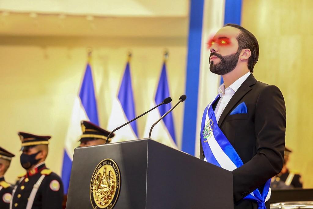 薩爾瓦多總統布格磊(Nayid Bukele)將推特檔案換成支持比特幣的雷射眼。(來源:Nayid Bukele推特)