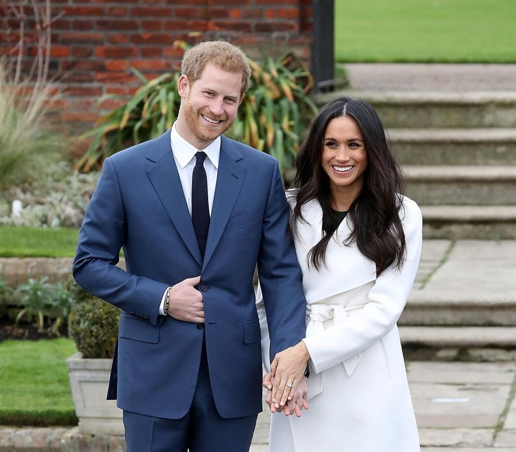 英國哈利王子(左)的妻子梅根(右)第二胎產女,王室家族聞訊感到欣喜。(圖/梅根Instagram)