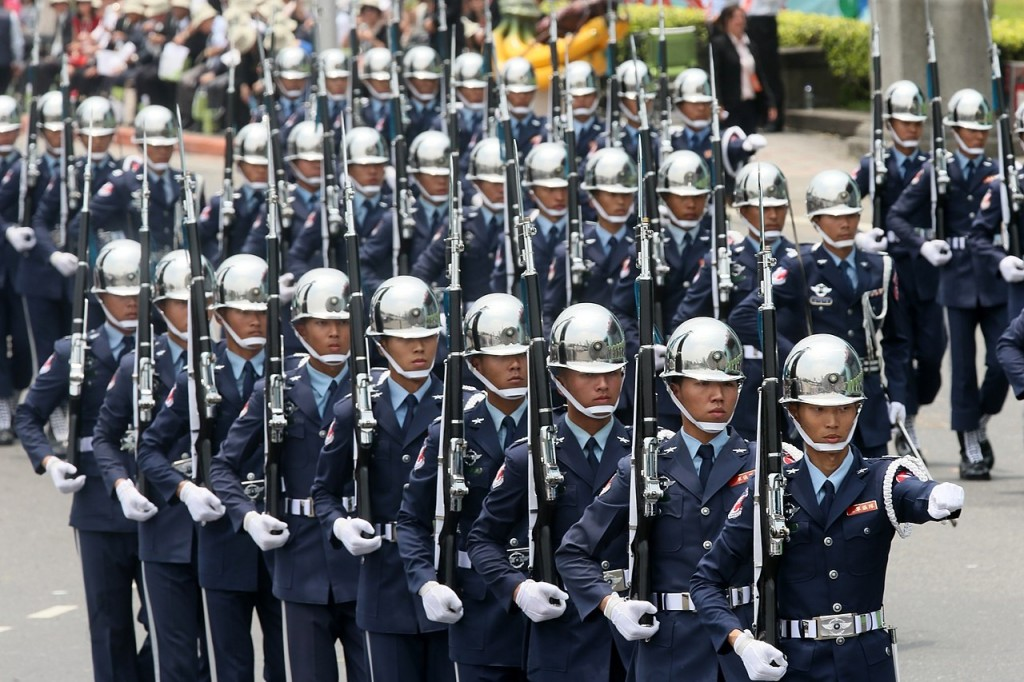 Taiwan honor guards on the march.