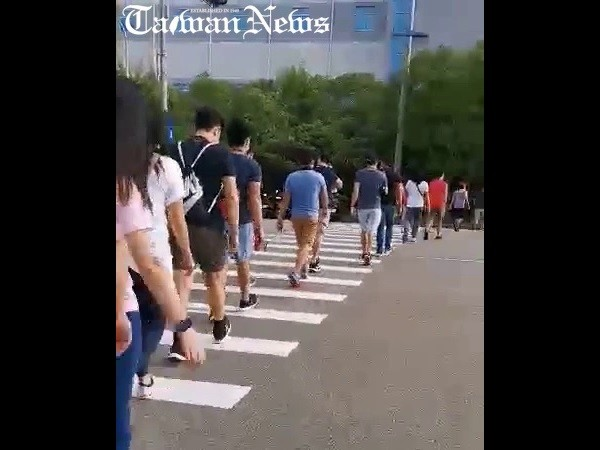 Video shows migrant workers in Taiwan's Miaoli herded into packs