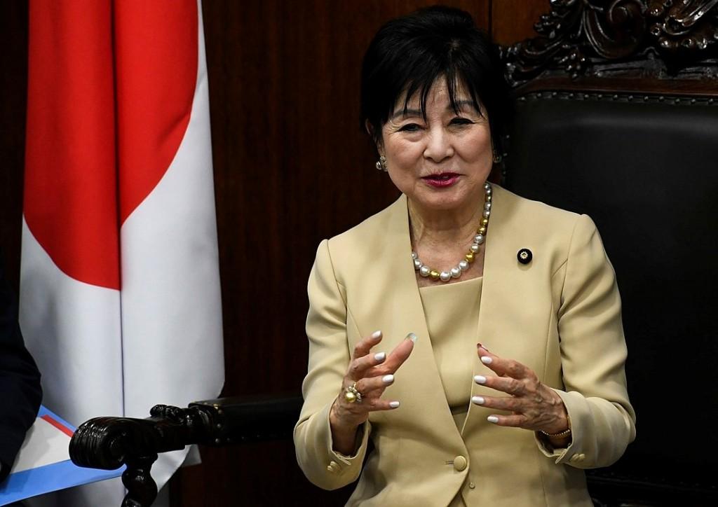 President of Japan's House of Councillors Akiko Santo