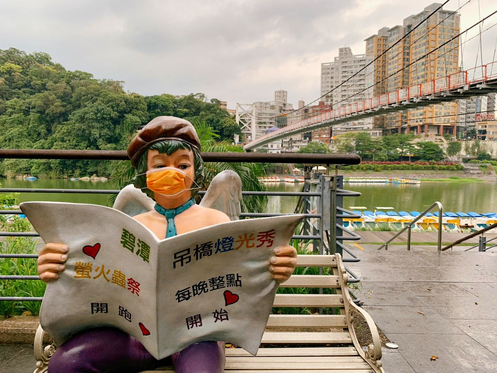 Photo of the Day: Astute statue observing mask rule in New Taipei