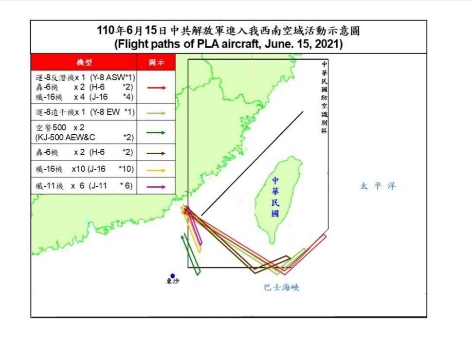 28 Chinese military aircraft intrude into Taiwan's ADIZ