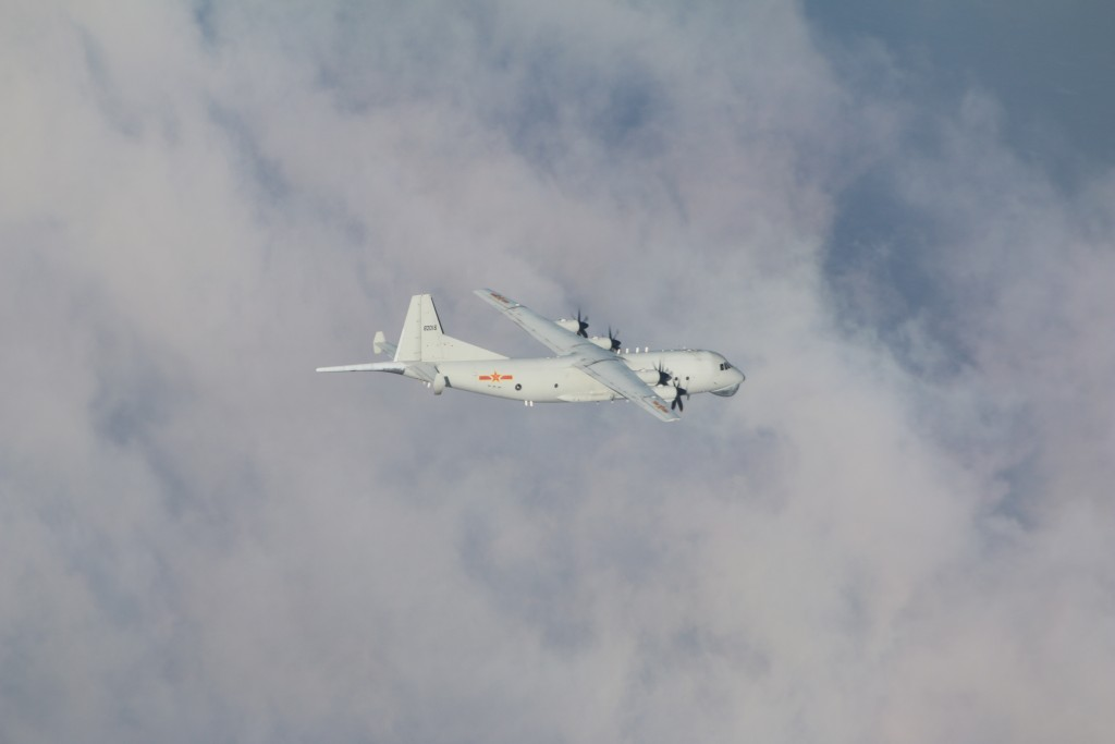 Chinese Y-8 maritime patrol aircraft(Ministry of National Defense photo)
