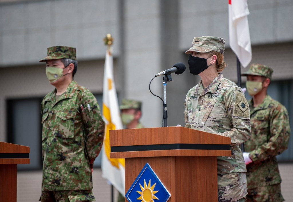 U.S. Army 40th Infantry Division CommanderLaura Yeager (Facebook, Orient Shield photo)