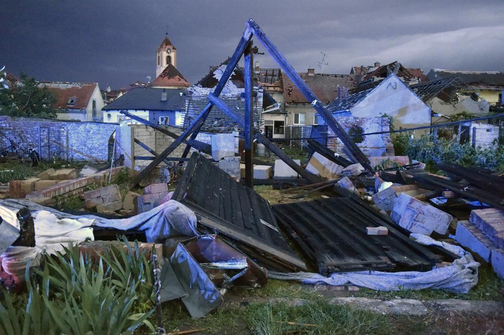 A tornado hit the South Moravia region of the Czech Republic Thursday evening