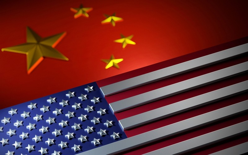 US, China flags. (Getty Images)